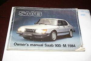 m 1984 saab 900 turbo oem factory owners manual australian market rh ebay com 1997 saab 900s owners manual Saab 900 Turbo