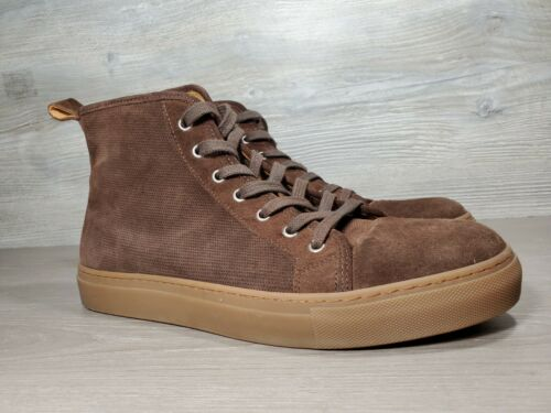 Suit Supply brown suede high top Fashion sneakers