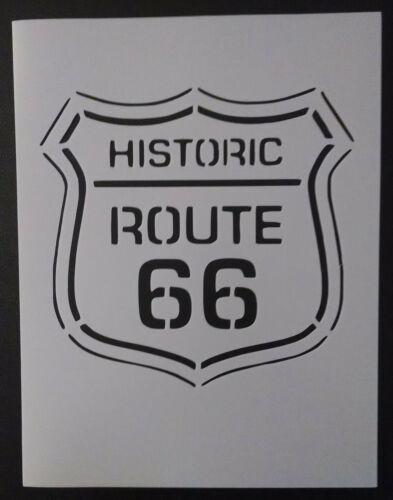 "Historic U.S Route 66 Street Sign 8.5/"" x 11/"" Custom Stencil FAST FREE SHIPPING"
