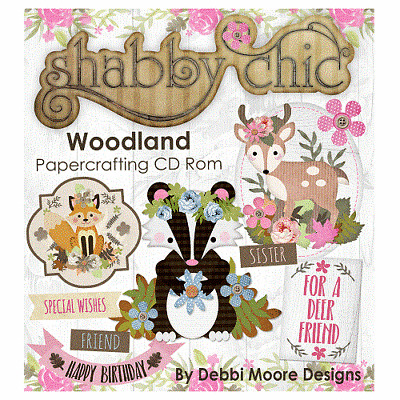 294999 1 x Debbi Moore Designs Shabby Chic Garden CD Rom
