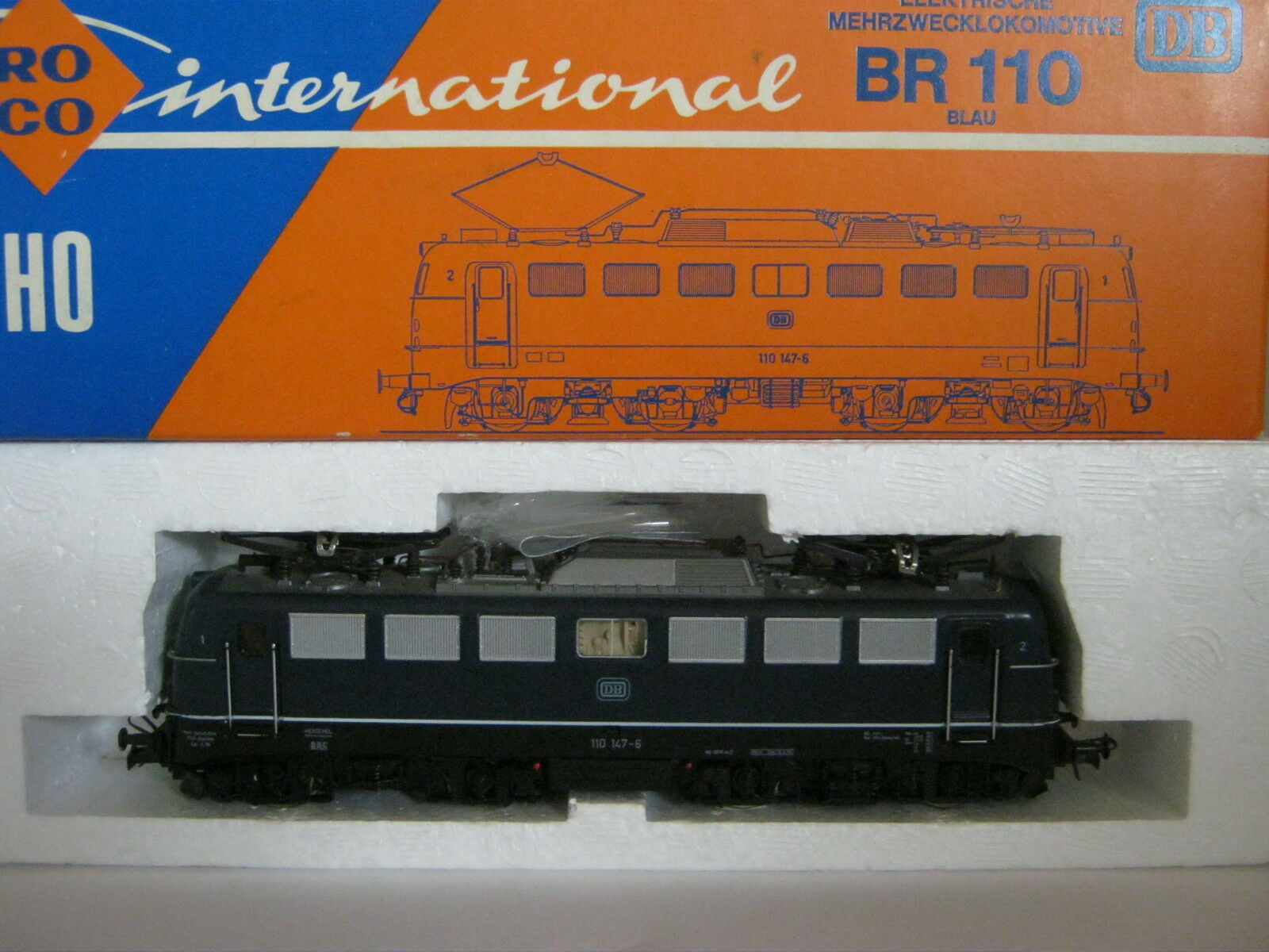 Roco HO 4135 A E -Lok Btrnr 110 147 -6 DB blå (RG  BB  61S1)