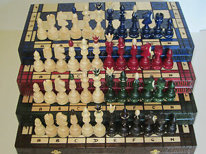Very Noble Great Chess Echiquier Echiquier 54 X Cm Bois Indien Indien
