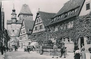 ALLEMAGNE c. 1940 - L'arc Röder Commerces Fontaine Rothenburg - DIV8384 2ISDbqCz-08032225-659650552