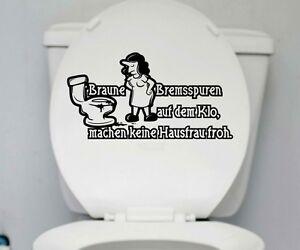 Wc Deckel Aufkleber Hausfrau Toilette Lustig Spruch Badezimmer Bad