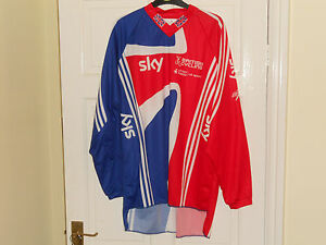 Team-GB-SKY-cycling-bike-jersey-Adidas-shirt-top-red-union-jack-BMX-Downhill