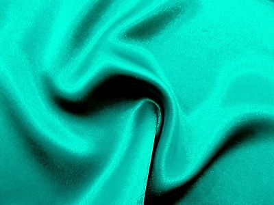 Awesome Designer Slightly SMOKY BLUE Crepe bck High Sheen Charmeuse SATIN Fabric