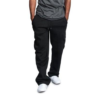 G-Style USA Men's Jogger Heavy Weight Fleece Cargo Pocket Sweat Pants - FL77