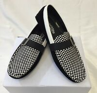 Mens Giovanni Shoes Loafer Fashion Italian Casual Slip-on Suede Plaid White