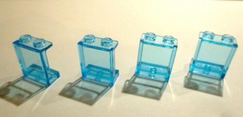 4 x LEGO® 35378 Paneele,Paneel,Wand 1x2x2 hellblau transparent.