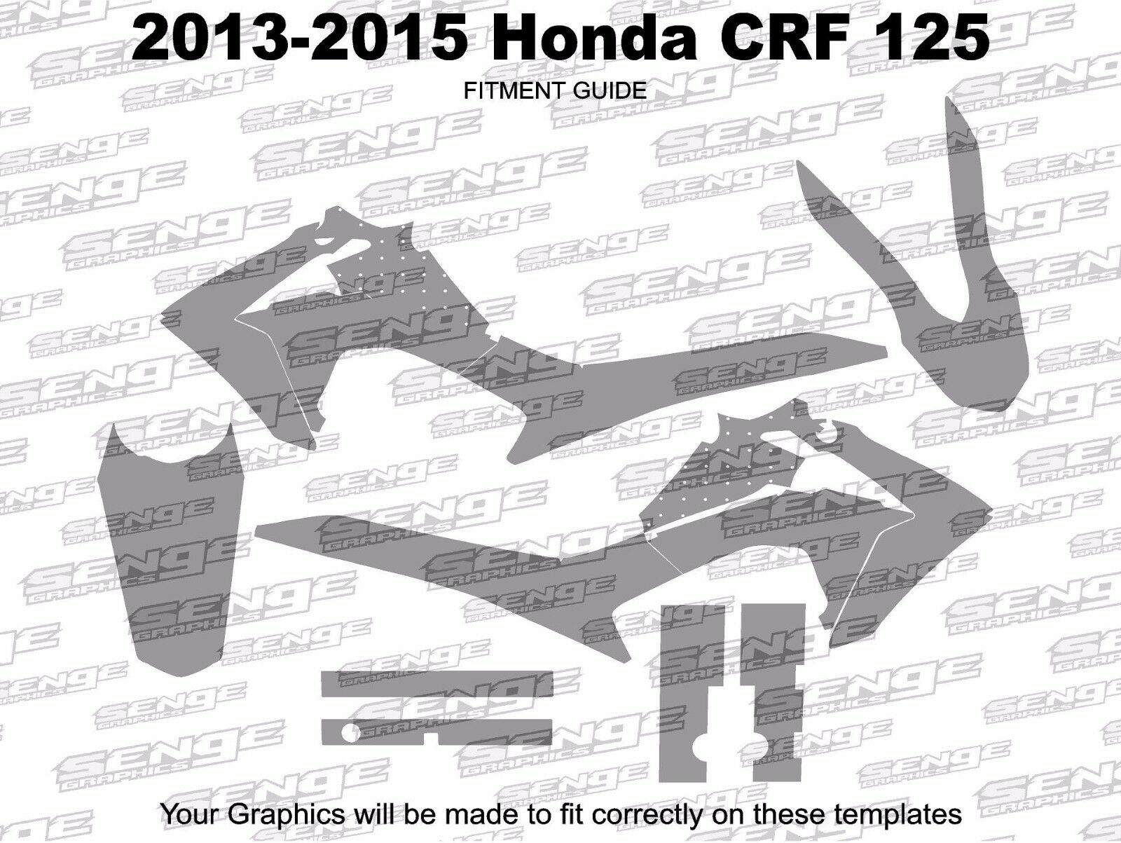 2013 2014 2015 2016 2017 2018 CRF 125 GRAPHICS KIT CRF125 DECO DECALS STICKERS