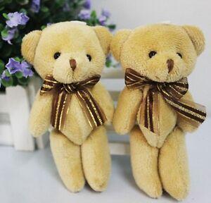 Cute-Soft-Plush-Stuffed-Mini-Brown-Ribbon-Teddy-Bear-Toys-Doll-for-Bouquet-New