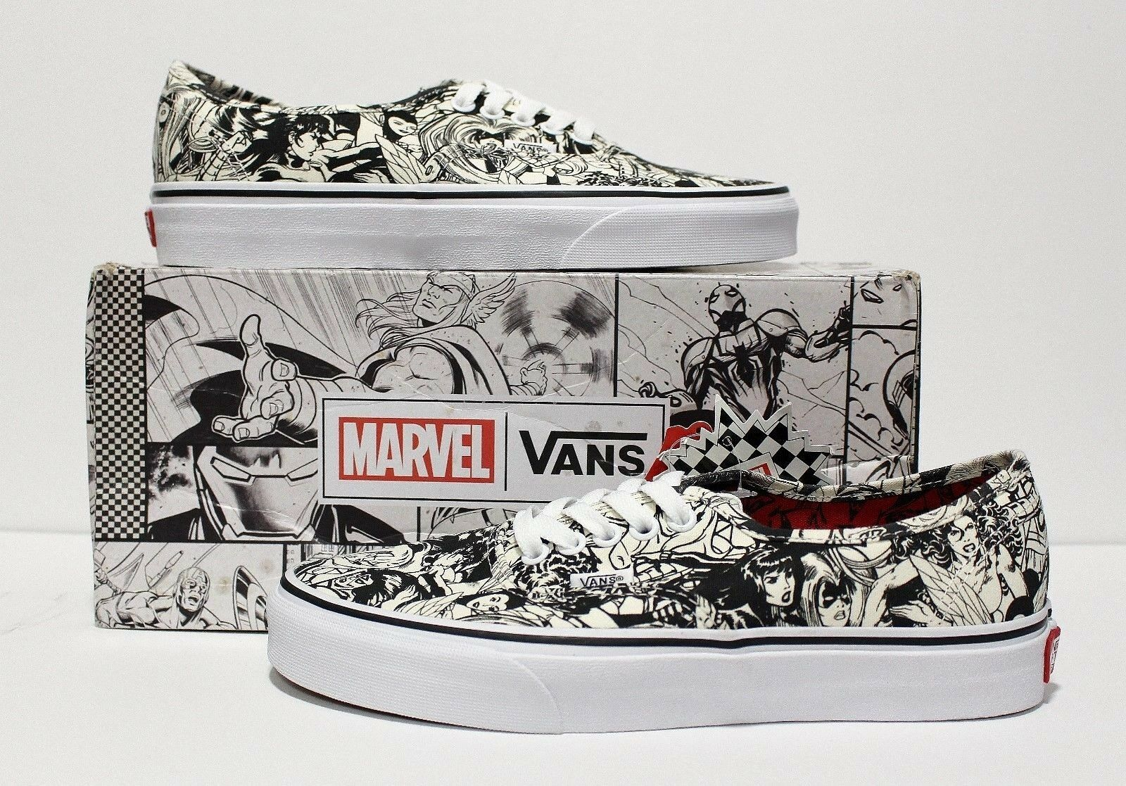 Vans X Marvel Authentic Multi Women Women's Size 7