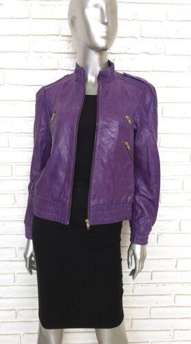Kvinder Biker Medium Lilla Alice Olivia Moto Læder Jacket Størrelse Scoop q5Hn0X0px