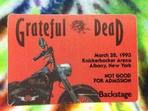 Grateful-Dead-Backstage-Pass-Harley-Davidson-Motorcycle-Bike-New-York-3-28-1993