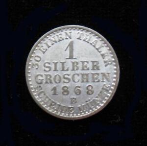 1868 B 1 Silber Groschen Germany SILVER