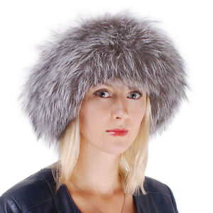 1af27f8615a Genuine Silver Fox Fur Roller Hat with Sheepskin Top! Winter Grey ...