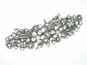 BARRETTES-HAIR-CLIPS-VINTAGE-LADIES-CLIP-CRYSTAL-LARGE-SLIDE-GRIPS-HAIRCLIP