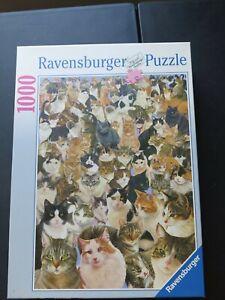 Ravensburger-Jigsaw-Puzzle-1000-Pc-Pieces-Cats-Galore-Cat-NEW