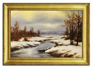 Oil-Painting-Pictures-Hand-Painted-with-Frame-Baroque-Art-G96470