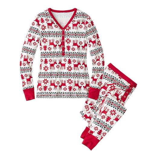 Family Matching Christmas Pajamas PJs Sets Xmas Sleepwear Nightwear UK STOCK