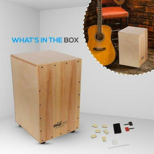 With Built-in Pickup Connector, Pyle PCJD50 Hybrid Acoustic Electronic Cajon