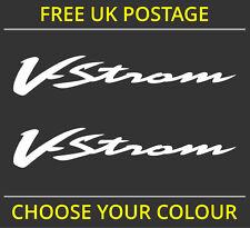 2x Suzuki V-strom Vstrom logotipo calcomanía de pegatinas de vinilo Dl 650 1000 Dl650 Dl1000