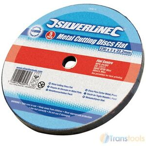 Silverline-Metal-Cutting-Discs-230mm-x-3mm-x-22-2mm-5-Pack-Angle-Grinder-186810