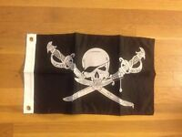 "Pirate Flag 12"" x 18"" Brethren Flag of the Coast Flag Boat Flag Motorcycle"