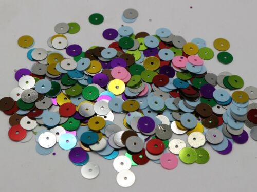 3000 Mixed Color 8mm Flat Round loose sequins Paillettes sewing Wedding craft