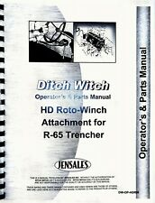 Ditch Witch R 65 Roto Witch Operators Manual Parts Catalog For R65 Trencher