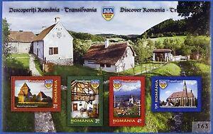 Rumänien Romania 2013 Siebenbürgen Transylvania Burg Dorf Block 554 MNH A: 400