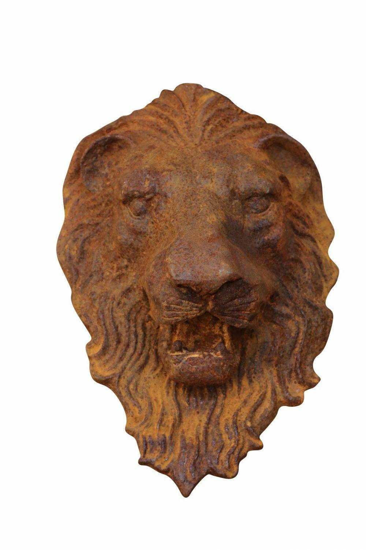 Cabeza de león león decoración parojo de hierro decoración gárgola escultura personaje