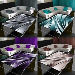 Moderner-Design-Teppich-Wellen-Teppich-Kurzflor-Wohnzimmer-versc-Farben-Groessen