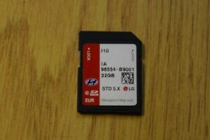 Details about GENUINE HYUNDAI i10 SAT NAV NAVIGATION SD CARD UK EUROPE  LATEST MAP 96554B9001