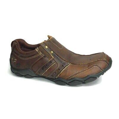Skechers Diameter Heisman 61779 Loafers Brown Leather Slip On Shoes Size 7.5 | eBay
