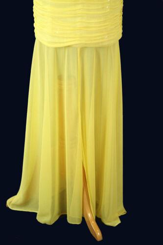 Hailey Logan $145 Yellow Prom Formal Cruise Full Long Dress Size 7 Junior Cruise