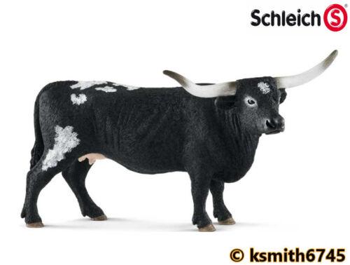 Schleich Texas Longhorn vache solide Jouet en plastique Ferme Pet Animal bovins NOUVEAU *