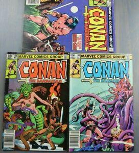 Group-of-3-Marvel-Comics-CONAN-The-Barbarian-112-134-136