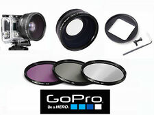 52mm HD X43 EXTREME WIDE ANGLE LENS +HD 3 FILTERS  FOR GOPRO HERO4 HERO3 HERO3+