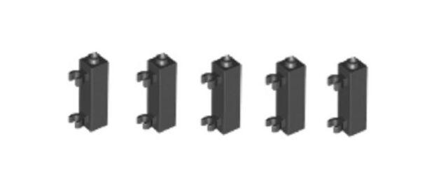 "Lego 10 Black 1x1 brick block with horizontal /""C/"" clip NEW"