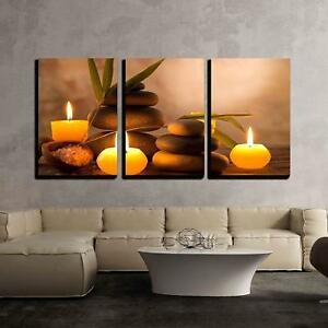 Details About Wall26 Aromatic Candles Zen Stones Canvas Art Wall Decor 16 X24 X3 Panels