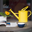 thumbnail 3 - HORTICAN Galvanized Watering Can Modern Style Watering Pot with Handle for Outdo