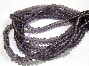 4mm Amethyst Color Purple Faceted Beads Exacly As Pictured 10 Strands 500 Beads