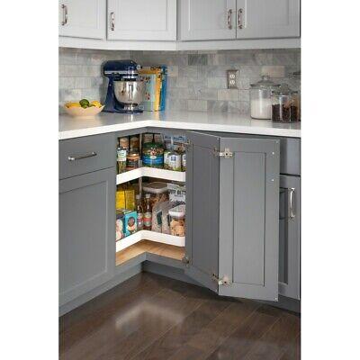 Kitchen Cabinet Lazy Susan 24 Rotating Shelves For Corner Base Cabinet 24 Inch Ebay