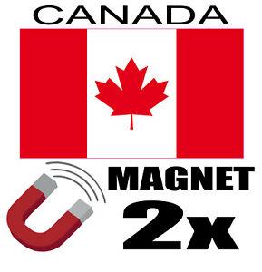TempéRé 2 X Canada Drapeau Magnet 6x3 Cm Aimant Déco Magnétique Frigo Le Plus Grand Confort