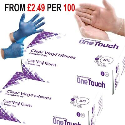 100 Disposable Powder Free Clear Gloves Food Medical Surgical Gloves FO