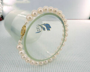 AAAA-7-8mm-South-Sea-White-Pearl-Bracelet-7-5-8-039-14k-Clasp