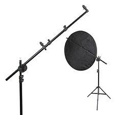 Photography Studio Light Stand, Reflector Boom Arm Holder & Lock Nut Set