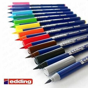 Edding-Colourpen-Brush-Tipped-Brush-Pen-Wallet-of-12-Colouring-Markers