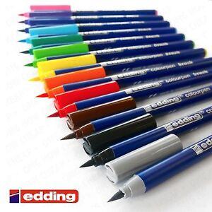 EDDING-colourpen-PENNELLO-PUNTA-FIBREPEN-1-0mm-2-0mm-Astuccio-da-12
